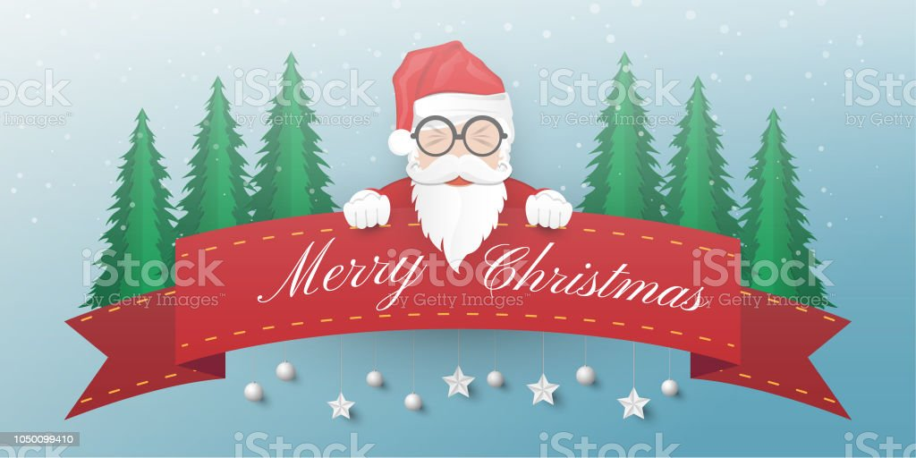 Merry Christmas And Happy New Year Background Santa Claus Snowman ...