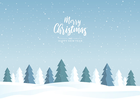 Merry Christmas and Happy New Year background. Vector