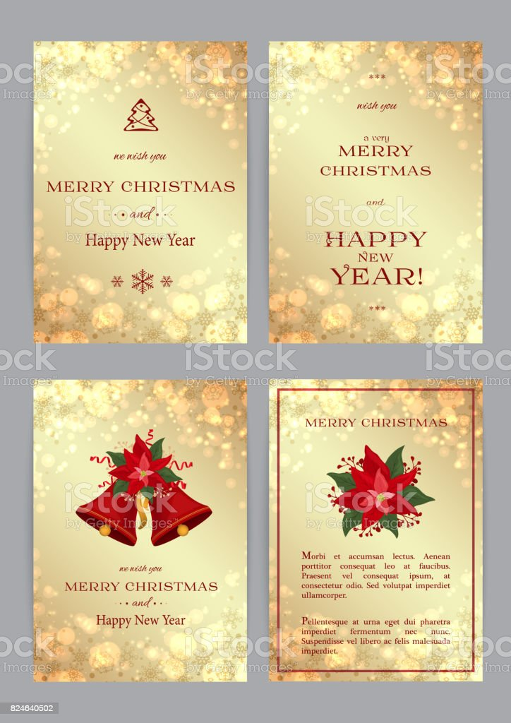 Merry Christmas and Happy New Year backgrounds