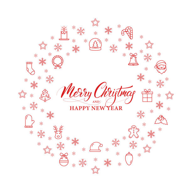 merry christmas and happy new year banner design for winter season holidays vector art illustration