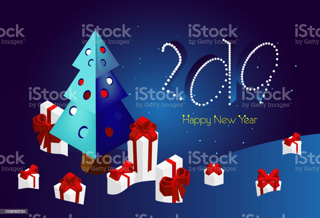 merry christmas and happy new year banner for the site 2019 on a blue