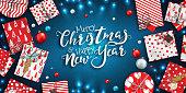 Xmas holiday greeting card, beautiful Christmas sale poster