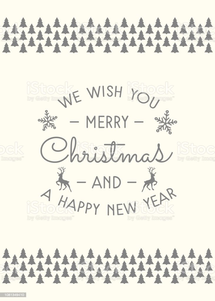Download Merry Christmas And Happy New Year Calligraphy