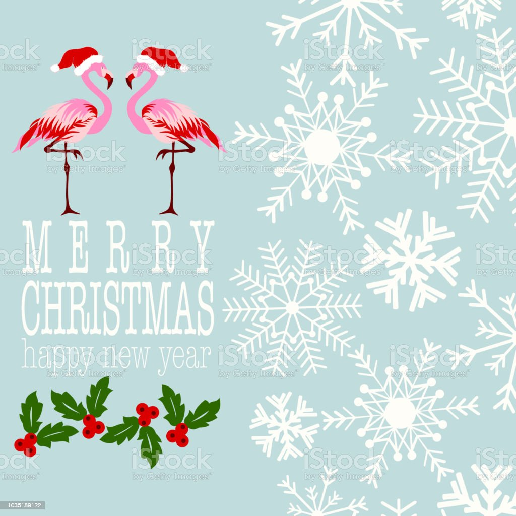 Merry Christmas And Happy New Year Card Stock Vector Art & More ...