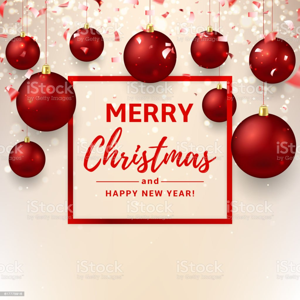 Merry Christmas And Happy New Year Card Royalty Free Merry Christmas And  Happy New Year