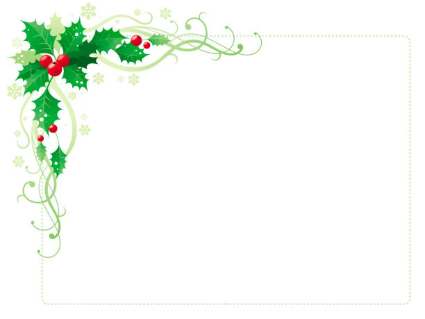 Best Christmas Garland On White Illustrations Royalty Free Vector