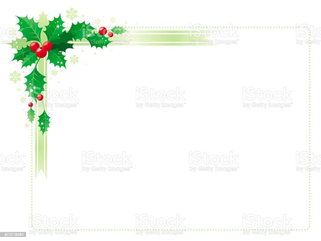 Frohe Weihnachten Und Happy New Jahr Ecke Horizontalen Rahmen Banner ...