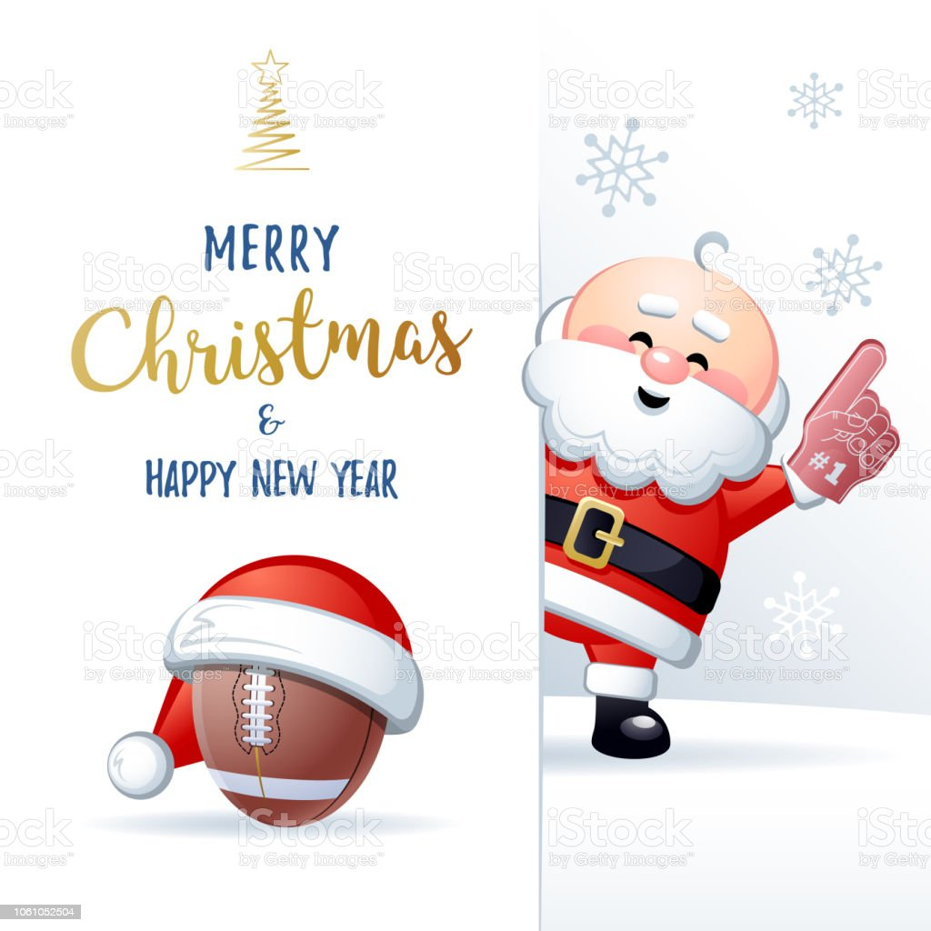 Merry Christmas And Happy New Year Cute Sports Greeting Card