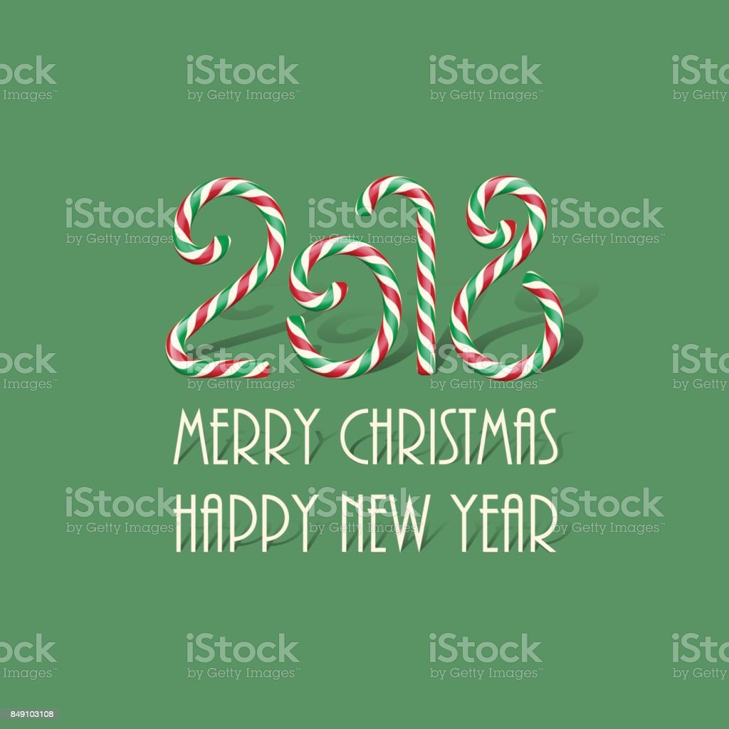 merry christmas and happy new year design template 2018 candy sign with merry christmas happy