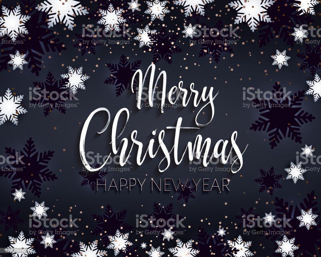 Frohe Weihnachten Und Ein Glückliches Neues Jahr Gruß Banner Stock ...