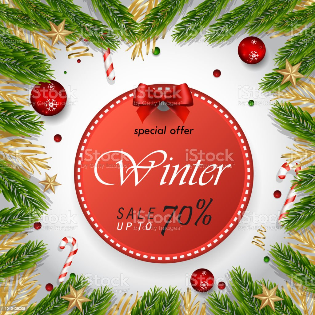 Merry Christmas And Happy New Year Greeting Card Background Vector ...