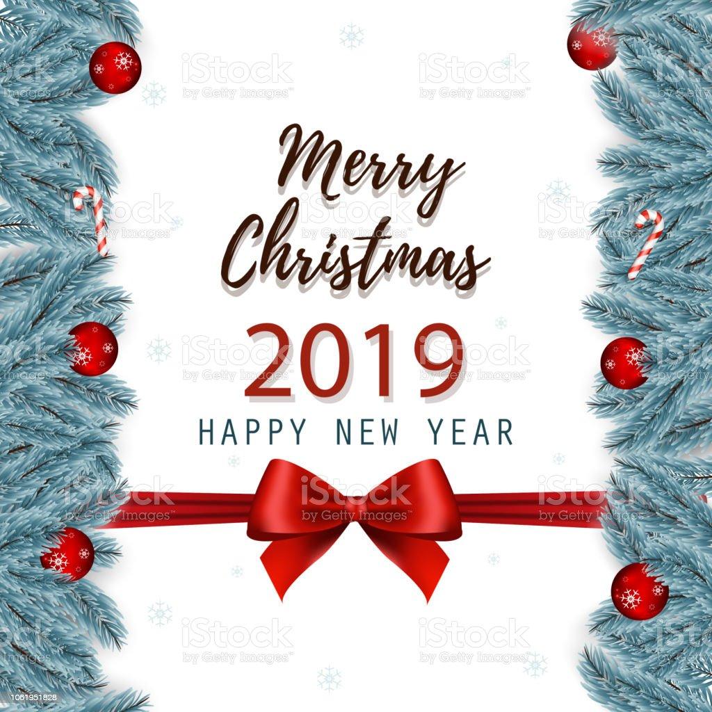 A Very Merry Borik�n Christmas: Ilustración De Feliz Navidad Y Feliz Año Nuevo Tarjeta De