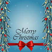 Merry Christmas and Happy New Year Greeting Card Background Vector Design
