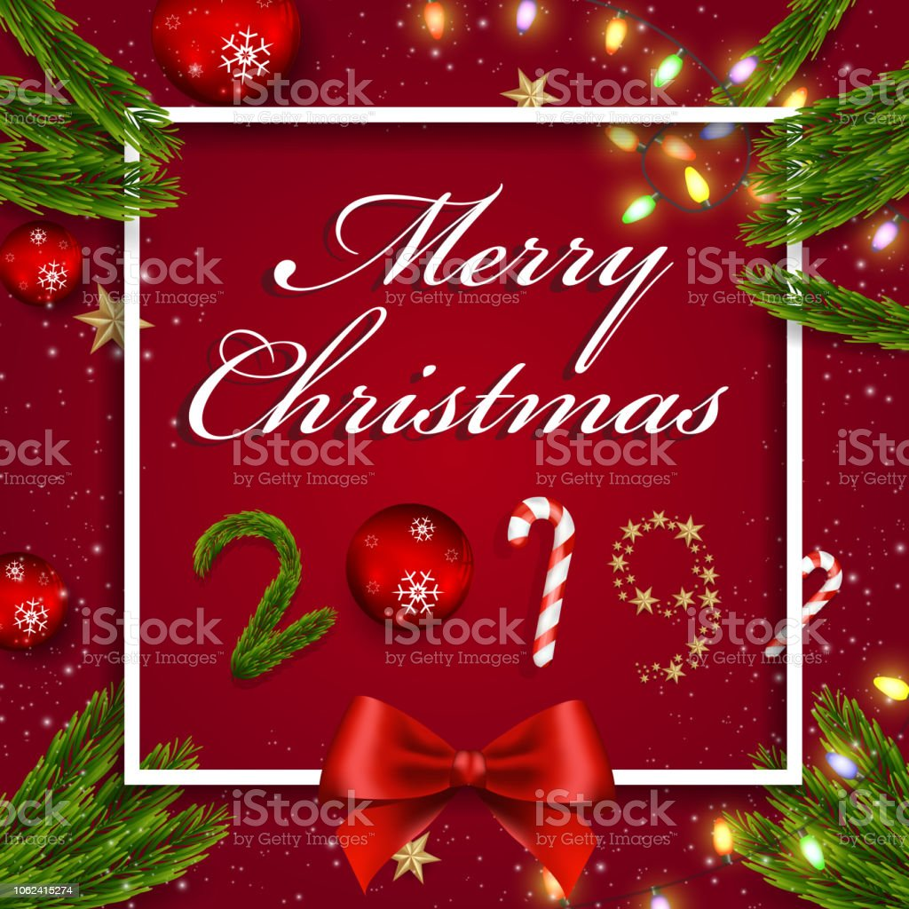 merry christmas and happy new year greeting card background vector design royalty free merry christmas