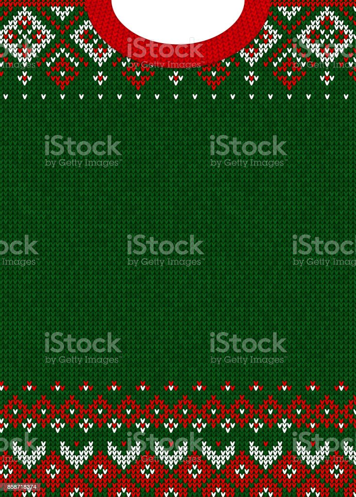 Merry Christmas and Happy New Year greeting card scandinavian ornaments vector art illustration