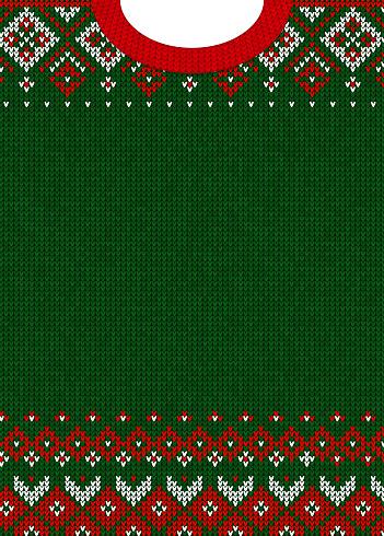 Frohe Weihnachten Und Happy New Year Grußkarte Ornamente Skandinavisch Stock Vektor Art und mehr Bilder von Archivmaterial