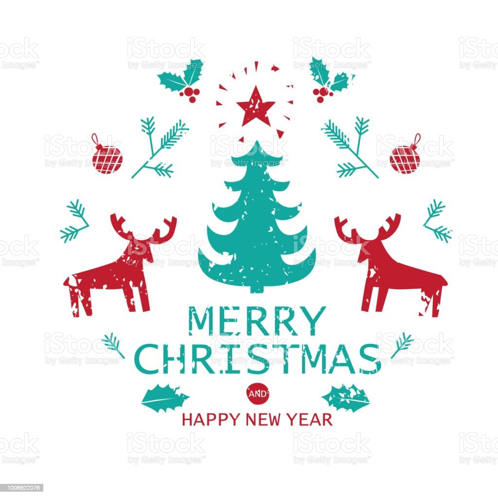 merry christmas and happy new year greeting card template royalty free merry christmas and happy