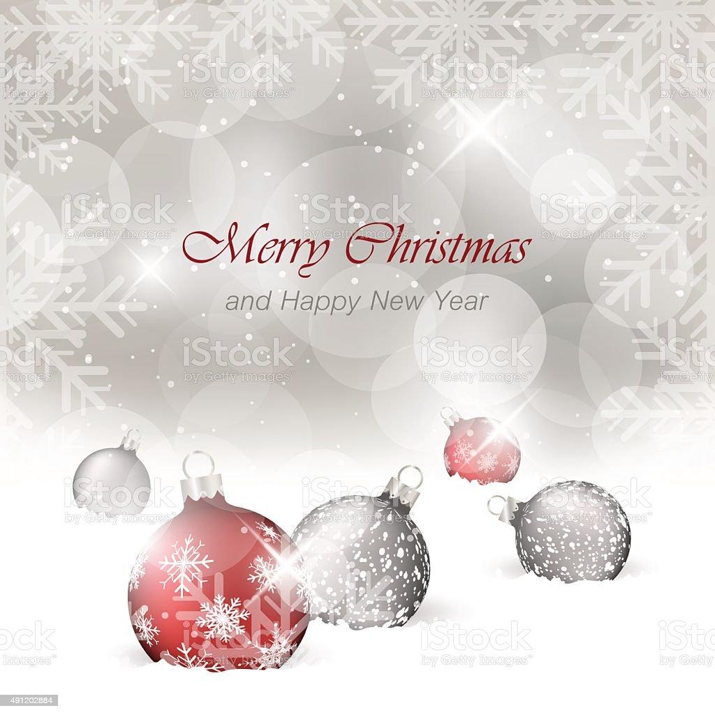 Cartoline Buon Natale E Felice Anno Nuovo.Buon Natale E Felice Anno Nuovo Cartolina Dauguri Immagini Vettoriali Stock E Altre Immagini Di 2015 Istock