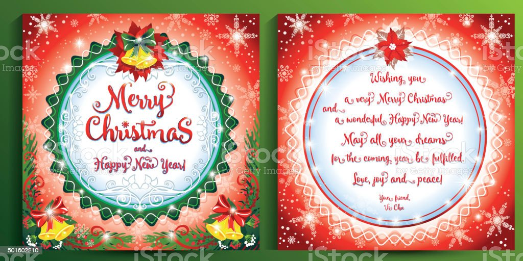 merry christmas and happy new year greeting card royalty free merry christmas and happy new