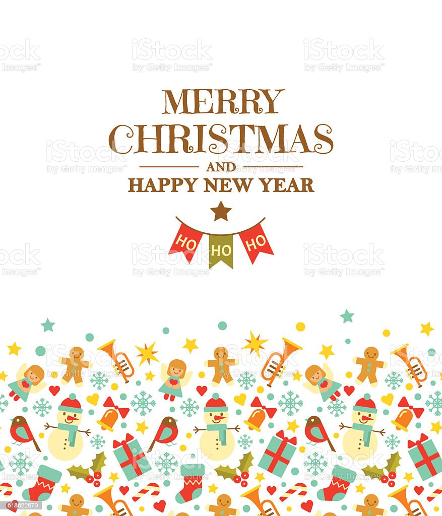 Merry christmas and happy new year greeting card stock vector art merry christmas and happy new year greeting card royalty free merry christmas and happy new m4hsunfo
