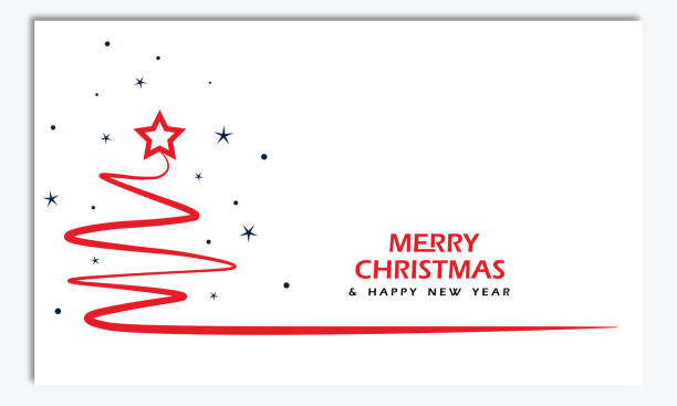 ilustrações de stock, clip art, desenhos animados e ícones de merry christmas and happy new year greeting card vector illustration - christmas card