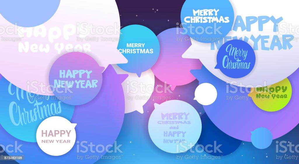 Frohe Weihnachten Und Glückliches Neues Jahr Gruß Nachrichten Auf ...