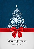 vector illustration of merry christmas and happy new year, greeting