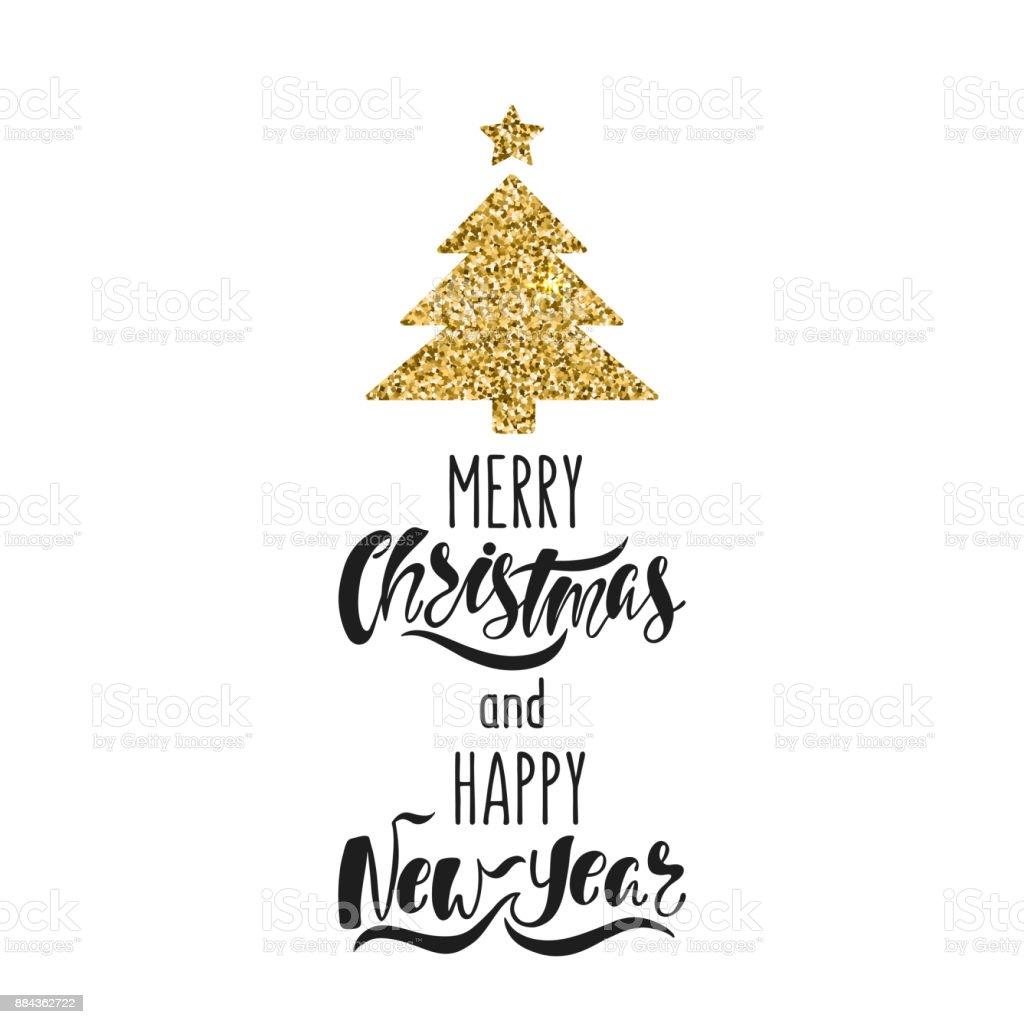Frohe Weihnachten Text.Frohe Weihnachten Und Gluckliches Neues Jahr Handgezeichnete
