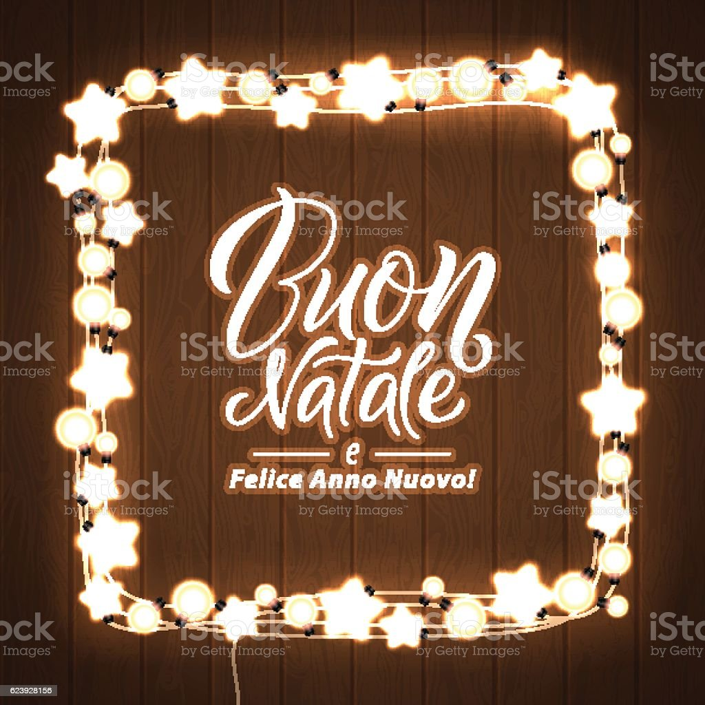 merry christmas and happy new year italian language glowing lights royalty free merry - How To Say Merry Christmas In Italian