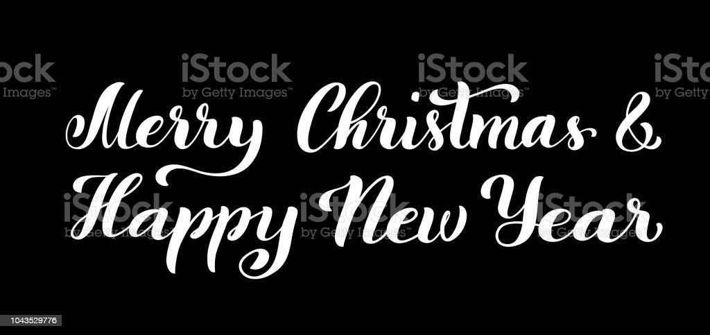 Frohe Weihnachten Und Glückliches Neues Jahr Moderne Kalligraphie ...