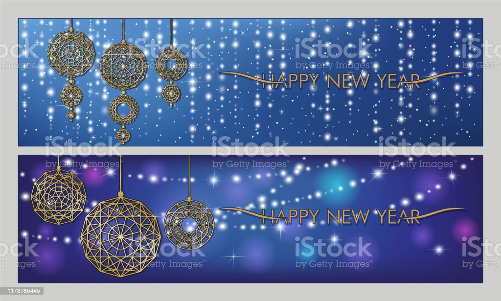 merry christmas and happy new year new year banners in blue background with shiny garlands stars and christmas pendant stock illustration download image now istock https www istockphoto com vector merry christmas and happy new year new year banners in blue background with shiny gm1173785445 326162222