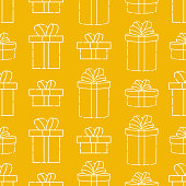 Merry Christmas and Happy New Year Seamless Pattern Vector. Christmas background colorful vector illustration. Decorative Christmas texture for wallpaper, web page background, wrapping paper and etc.