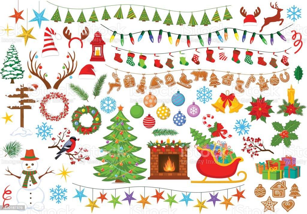 Merry Christmas And Happy New Year Seasonal Winter Xmas ...