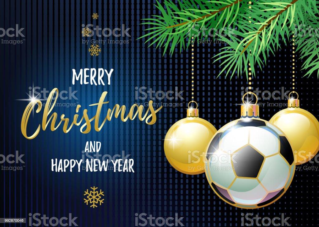 Frohe Weihnachten Und Gluckliches Neues Jahr Sportgrusskarte