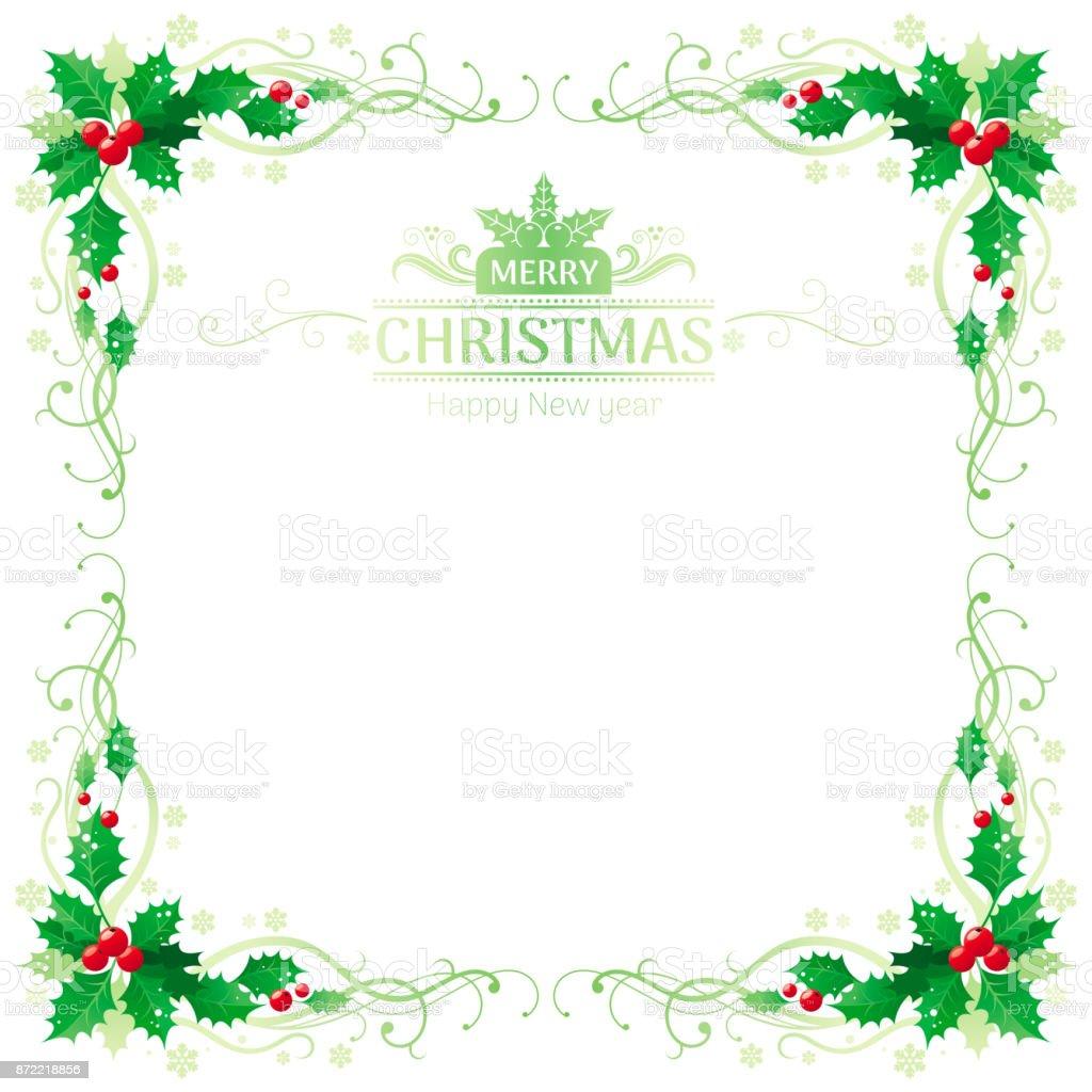 Frohe Weihnachten Und Glückliches Neues Jahr Quadratischen Rahmen ...