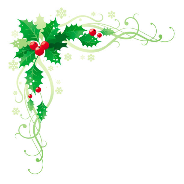 Royalty Free Holly Corner Clip Art, Vector Images ...