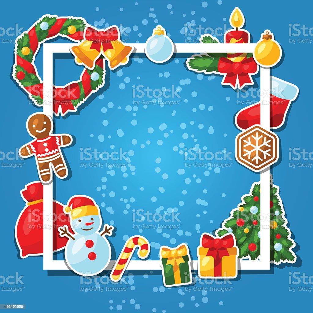 merry christmas and happy new year sticker template for invitation royalty free merry christmas and