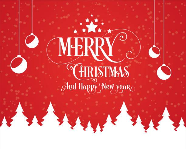 с рождеством христовым и с новым годом типография иллюстрация. xmas фон со звездами света дерева - holiday background stock illustrations