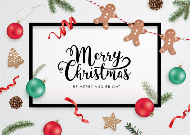 merry christmas and happy new year! - christmas background stock illustrations