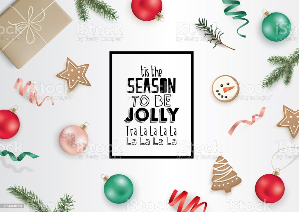 Happy Jolly Merry Gift Box Ornaments