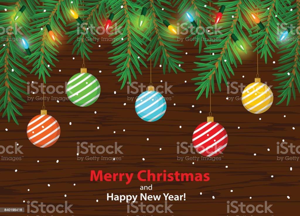 Frohe Weihnachten Und Glückliches Neues Jahr Winter Karte ...