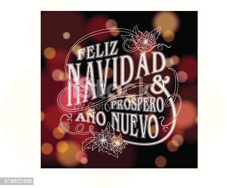 """istock """"Feliz navidad y prospero año nuevo"""" with sparkling lights 518522435"""