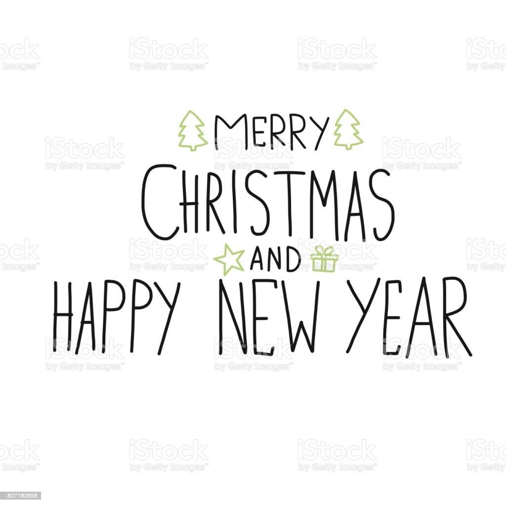 Frohe Weihnachten Und Happy New Year Wort ...