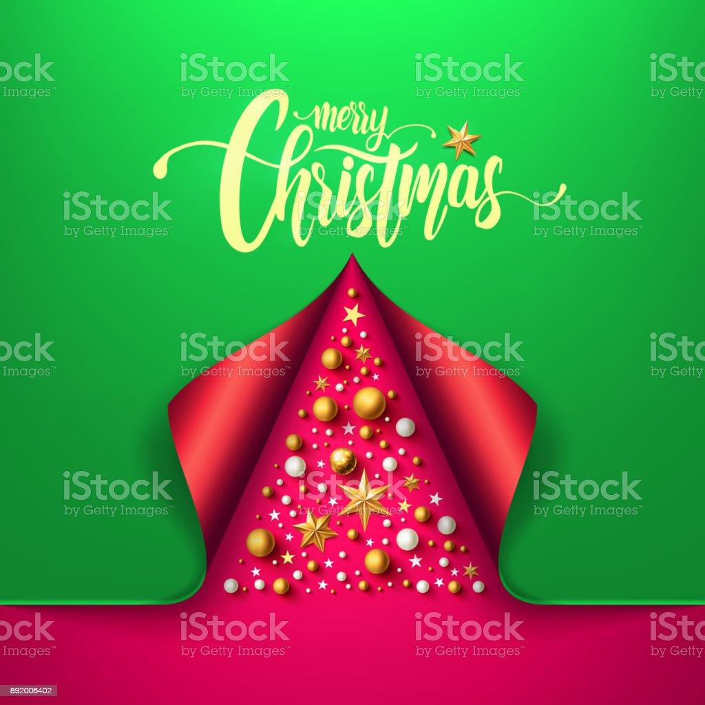 Frohe Weihnachten Und Ein Frohes Neues Jahr Mit Weihnachtsbaum Aus ...