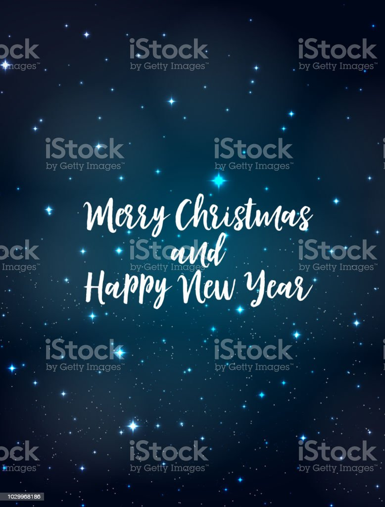 Merry Christmas and New Year Background. Vector Illustration vector art illustration