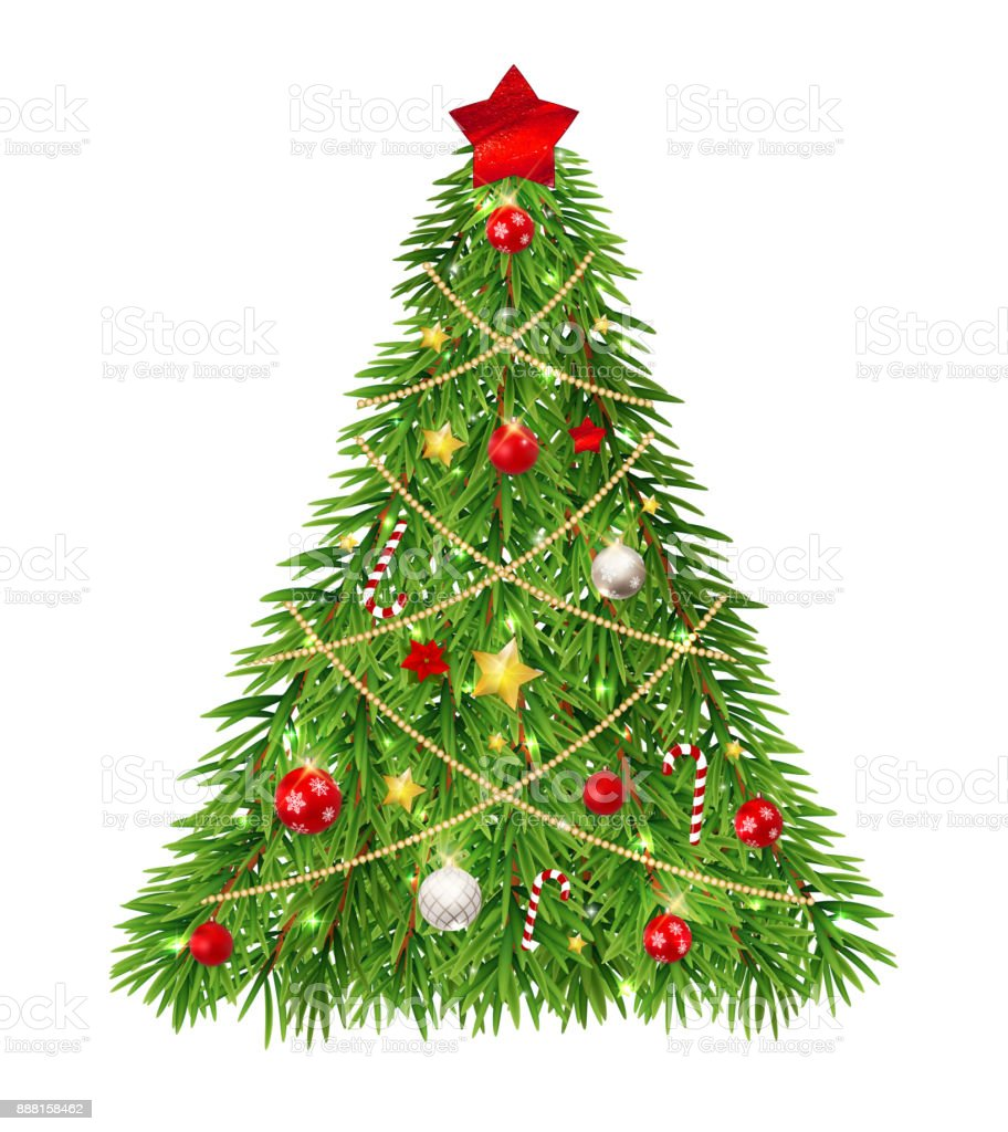 merry christmas and new year background with christmas tree vector illustration royalty free merry