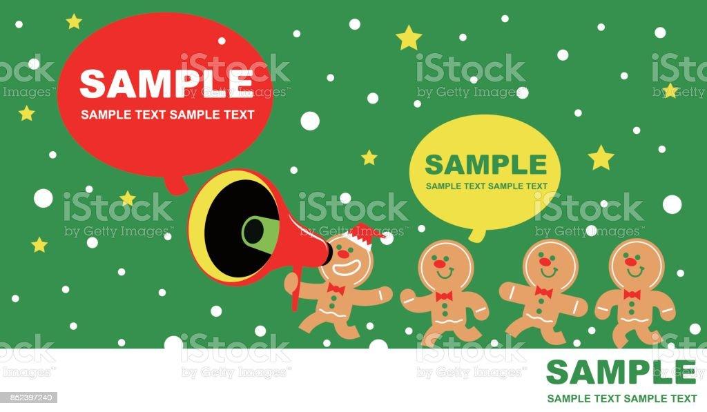 Frohe Weihnachten Und Neujahr Grußkarte Süße Lebkuchenmann Reden ...