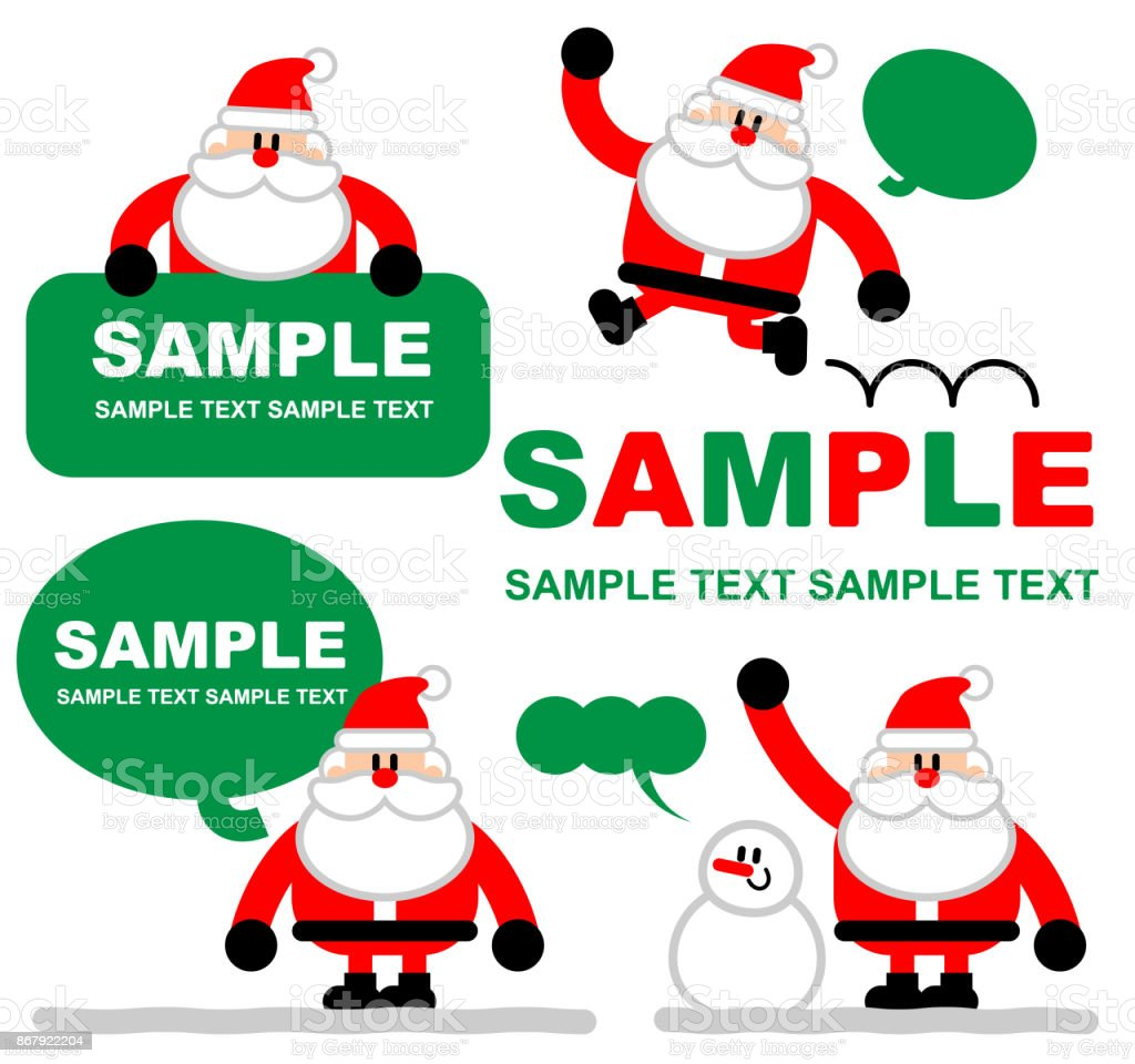 Merry Christmas And New Year Greeting Card Cute Santa Claus Holding ...