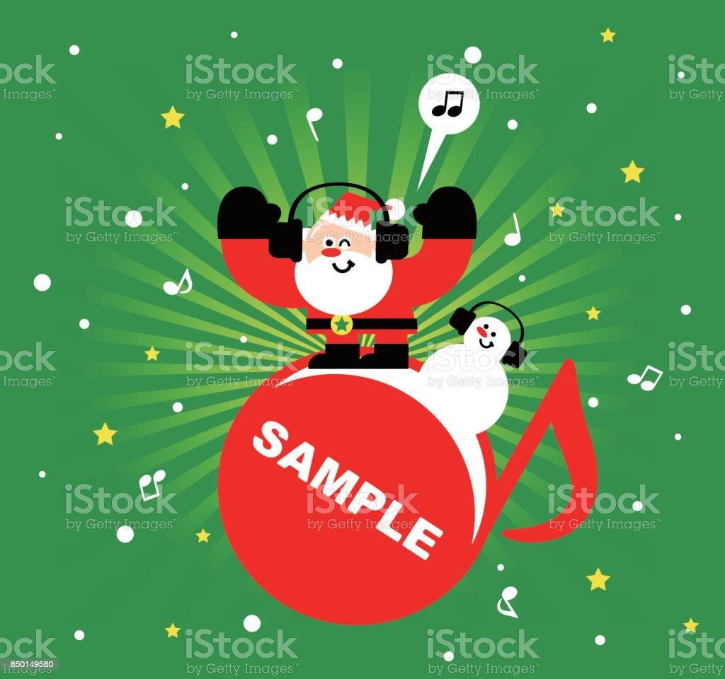 Frohe Weihnachten Musik.Frohe Weihnachten Und Neujahr Grußkarte Weihnachtsmann Und