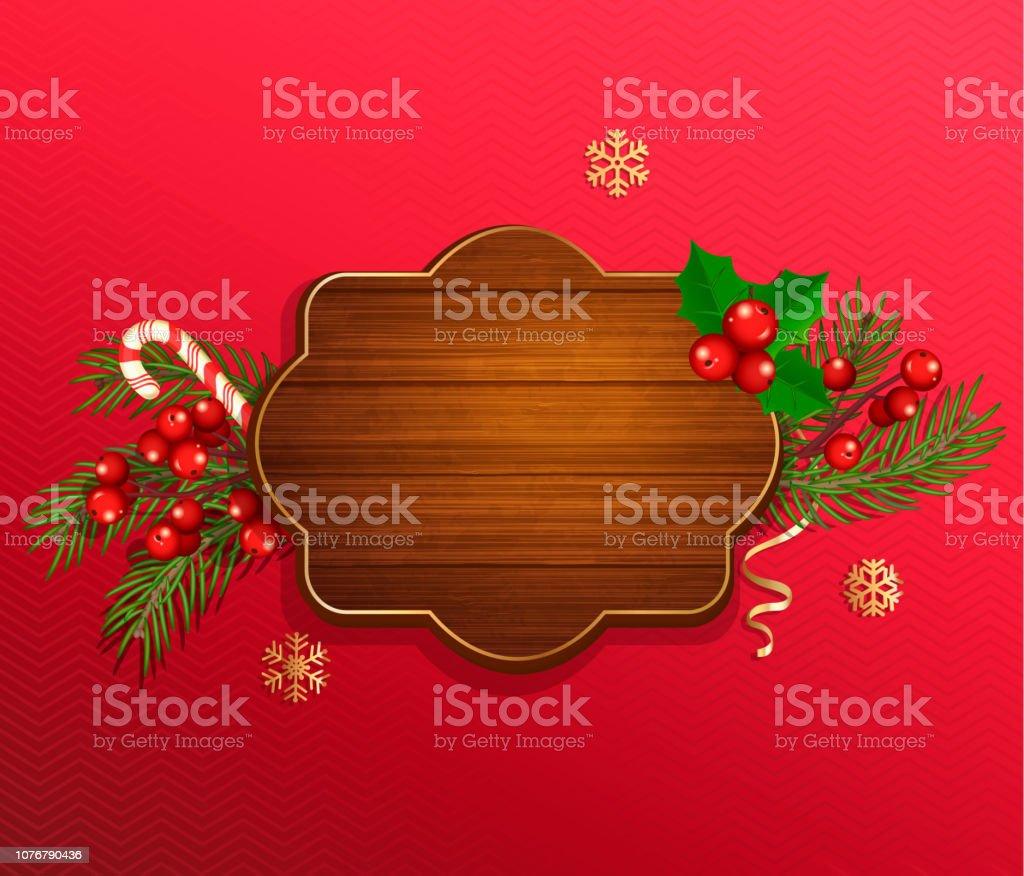 Frohe Weihnachten Und Neues Jahr Wünschen Vorlage Stock Vektor Art